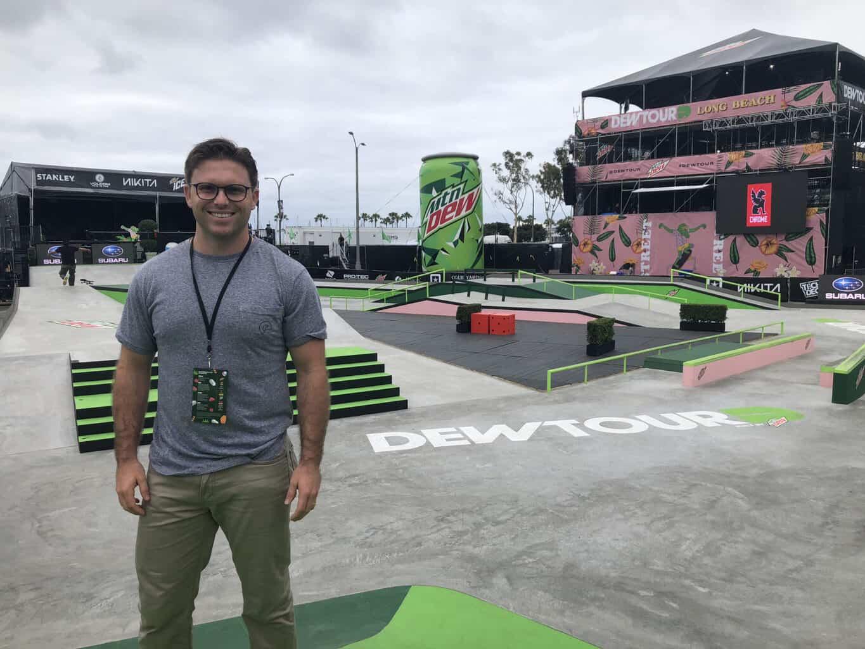 Skateboarding physical therapist, Dr. Scott. Gray, atSummer Dew Tour 2018