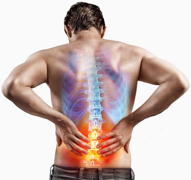 Man Holding Back With Sciatica Pain