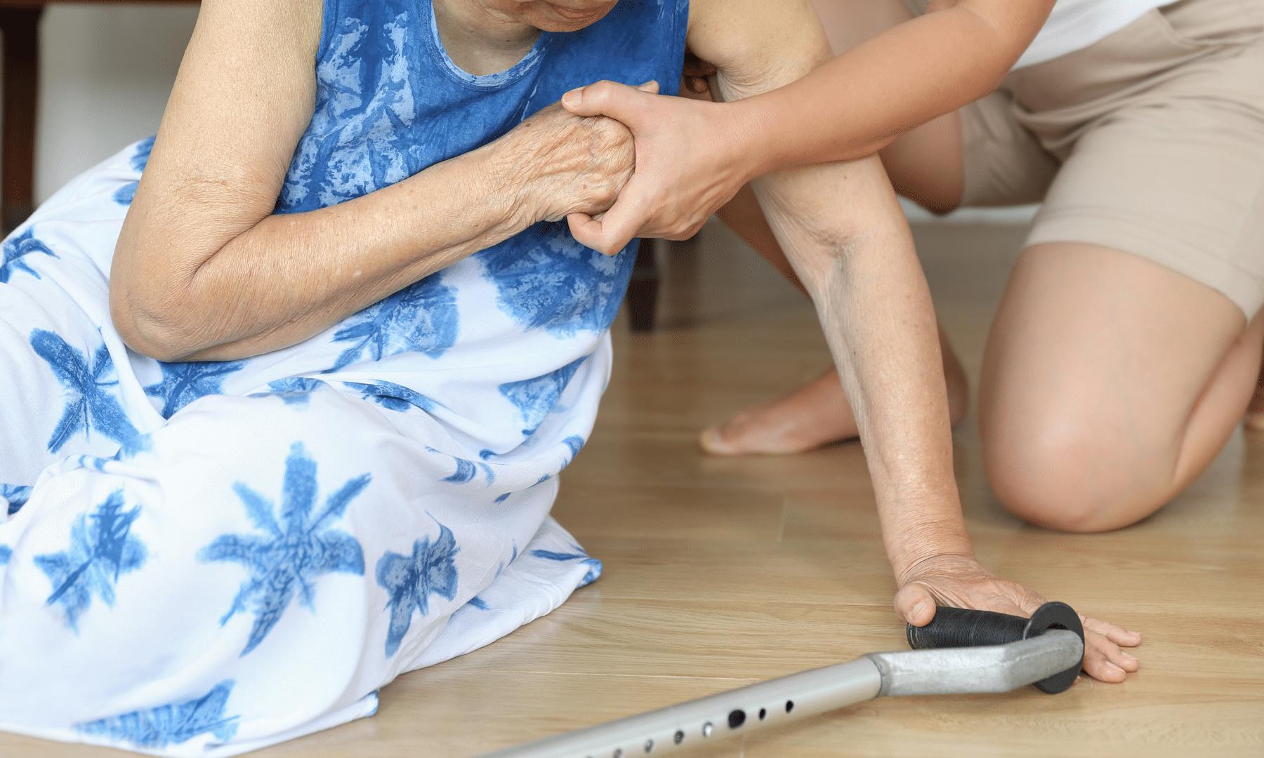 elderly woman fallen