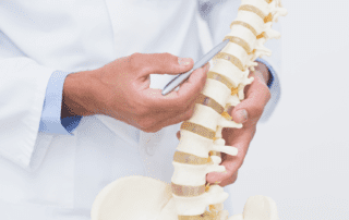 doctor looking at spine